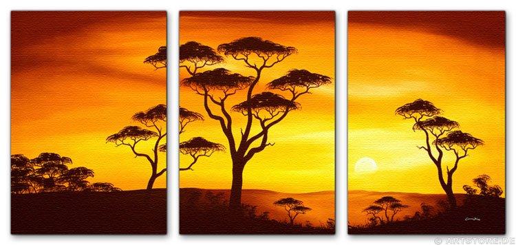 Wandbild Chanel Simon AFRICAN SUNSET - EDITION