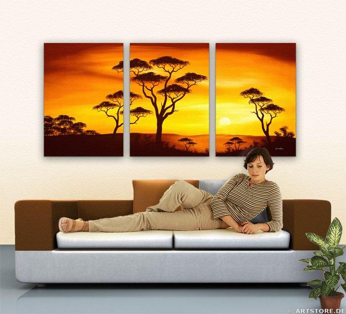 Wandbild Chanel Simon AFRICAN SUNSET - EDITION Wohnbeispiel