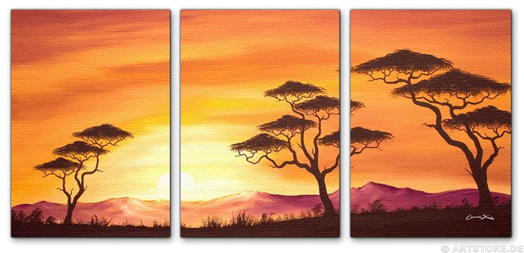 Wandbild Chanel Simon SUNSET AFRICA - EDITION