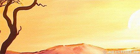 Wandbild Chanel Simon SUNSET AFRICA - EDITION Detailausschnitt