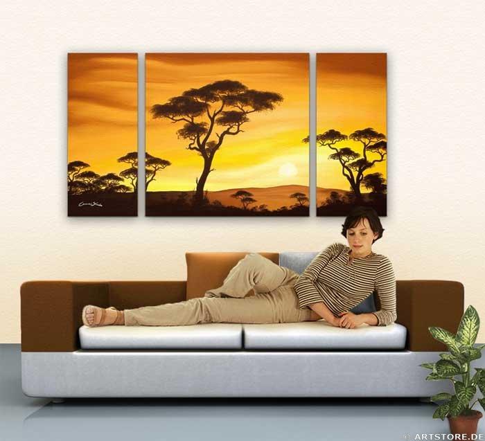 Wandbild Chanel Simon AFRICAN SUN - EDITION Wohnbeispiel