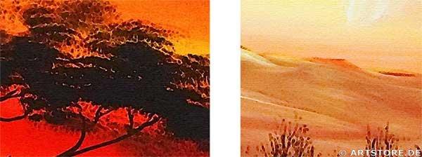 Wandbild Chanel Simon AFRICAN SUNSET - EDITION Detailausschnitt