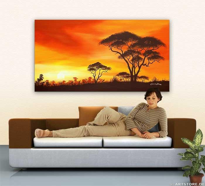 Wandbild Chanel Simon AFRICAN DAY DREAM Wohnbeispiel