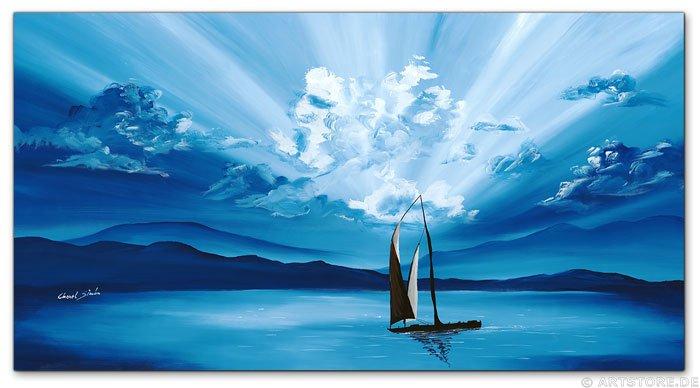 Wandbild Chanel Simon SUNSET SAILING