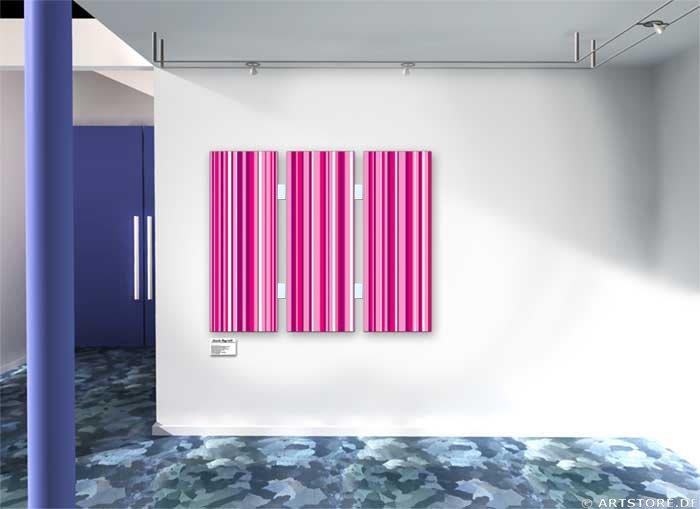 Wandbild Jack Dyrell MODERN PINK Wohnbeispiel