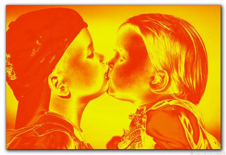 Wandbild Jack Dyrell FIRST KISS