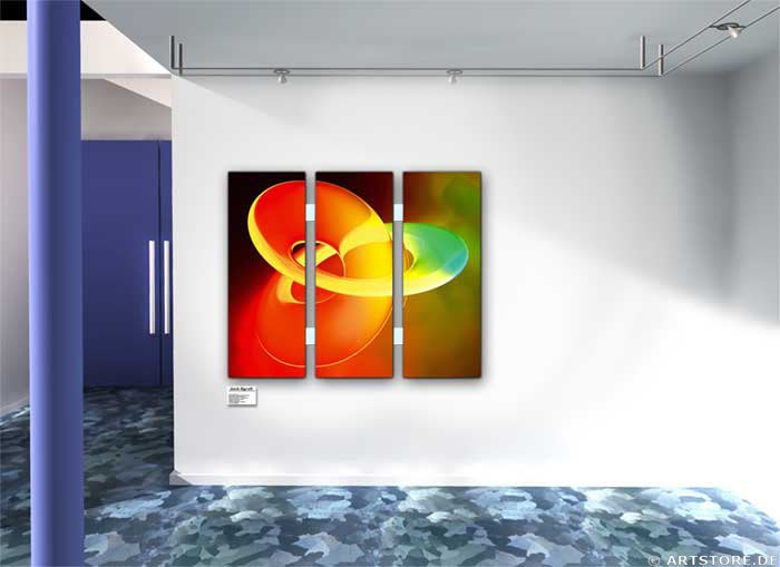 Wandbild Jack Dyrell UNLIMITED LIGHT 2 Wohnbeispiel
