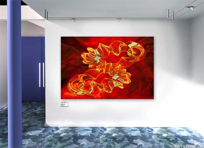 Wandbild Jack Dyrell RED FOCUS Wohnbeispiel