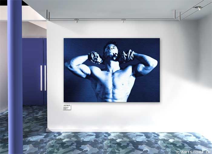 Wandbild Jack Dyrell STRONG IN BLUE Wohnbeispiel