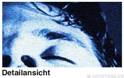 Wandbild Jack Dyrell STRONG IN BLUE Detailausschnitt