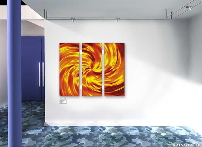 Wandbild Jack Dyrell GOLDEN TORNADO Wohnbeispiel