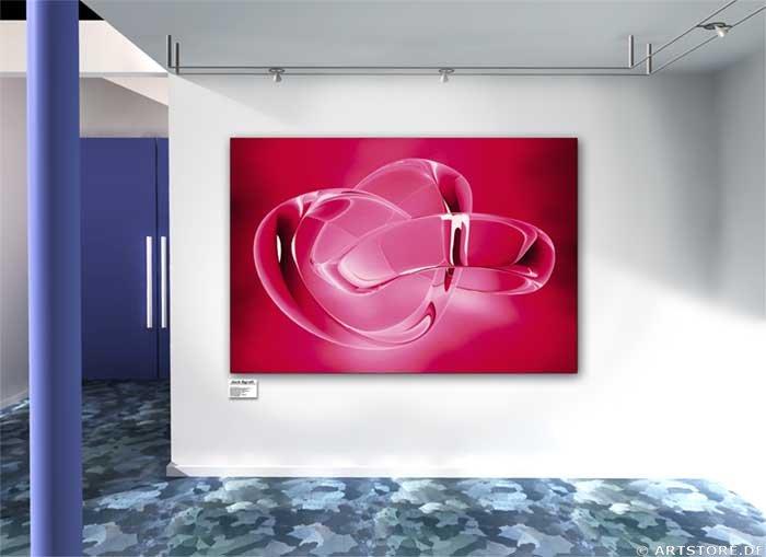 Wandbild Jack Dyrell NEVER ENDING RED Wohnbeispiel