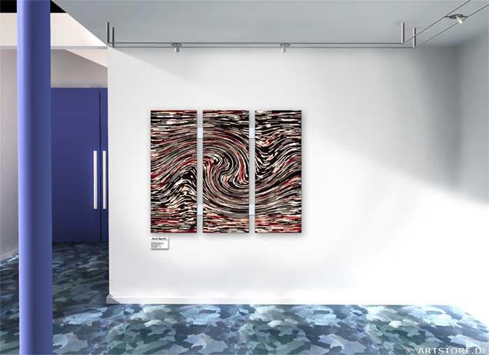 Wandbild Jack Dyrell RAUM UND ZEIT Wohnbeispiel