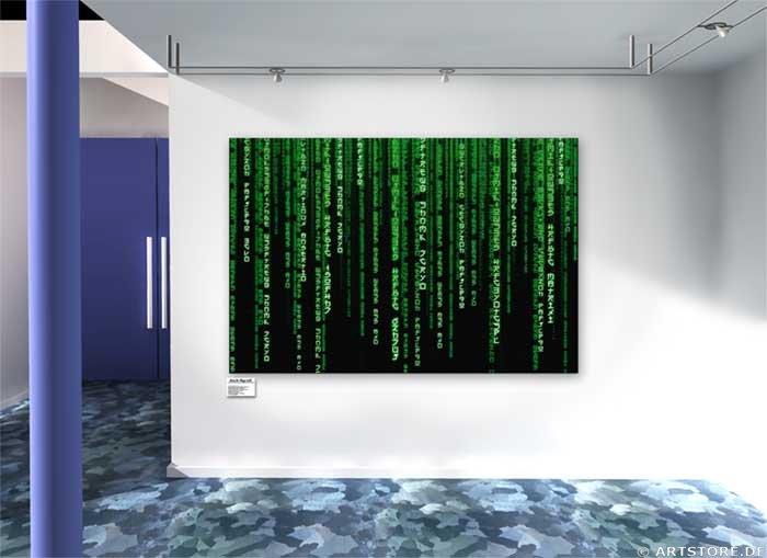 Wandbild Jack Dyrell MATRIX - BIG Wohnbeispiel