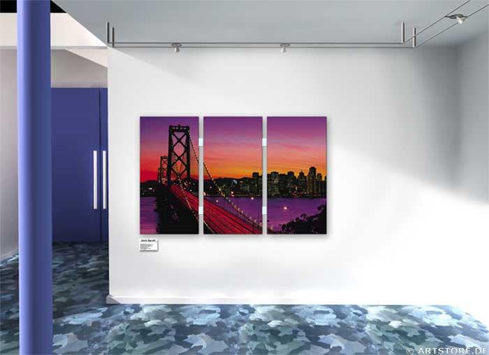 Wandbild Jack Dyrell SAN FRANCISCO Wohnbeispiel