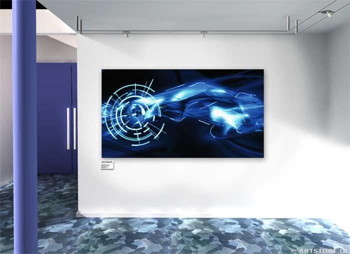 Wandbild Jack Dyrell ENERGY STREAM Wohnbeispiel