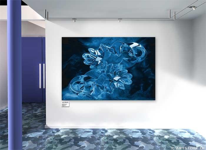 Wandbild Jack Dyrell BLUE FOCUS Wohnbeispiel