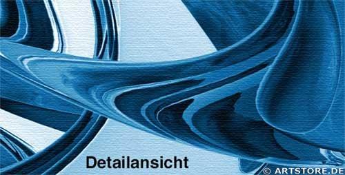 Wandbild Jack Dyrell BLUE FOCUS Detailausschnitt