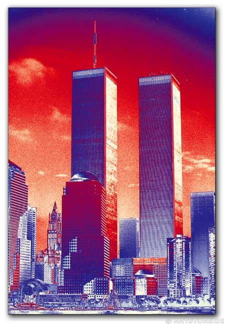 Wandbild Jack Dyrell TWIN TOWERS