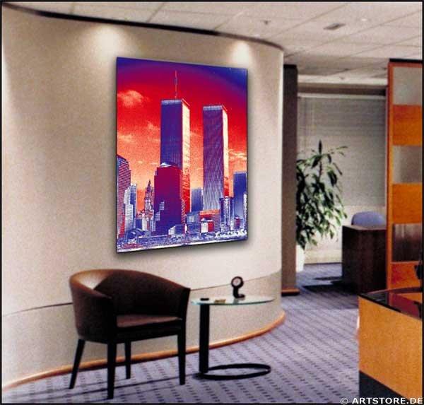 Wandbild Jack Dyrell TWIN TOWERS Wohnbeispiel