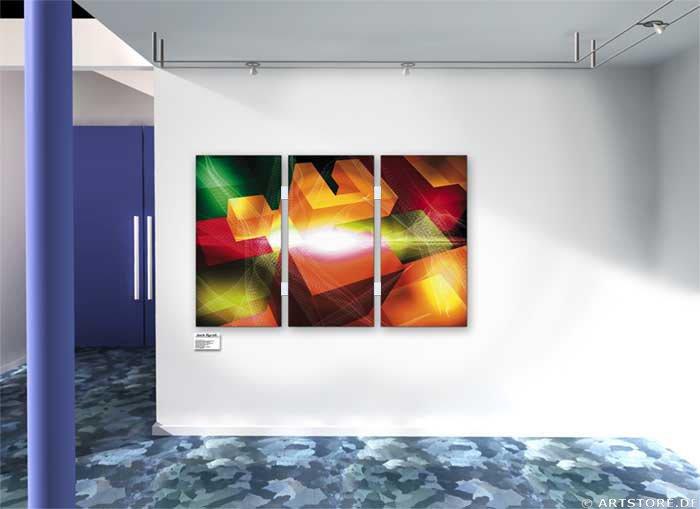 Wandbild Jack Dyrell BASIC ELEMENTS Wohnbeispiel