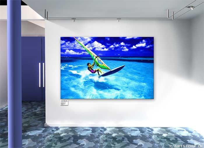 Wandbild Jack Dyrell WINDSURFING Wohnbeispiel