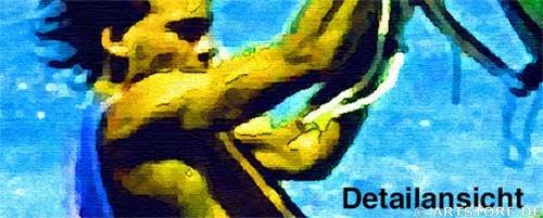 Wandbild Jack Dyrell WINDSURFING Detailausschnitt