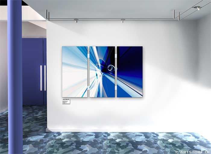 Wandbild Jack Dyrell CENTER OF BLUE Wohnbeispiel
