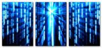 Wandbilder Jack Dyrell MATRIX BLUE