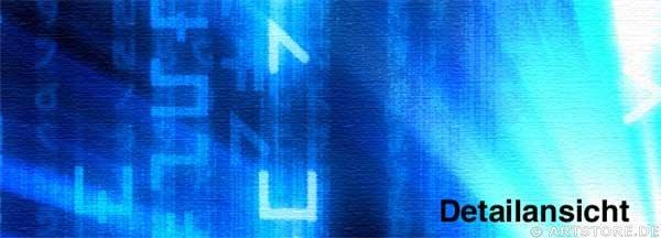 Wandbild Jack Dyrell MATRIX BLUE Detailausschnitt