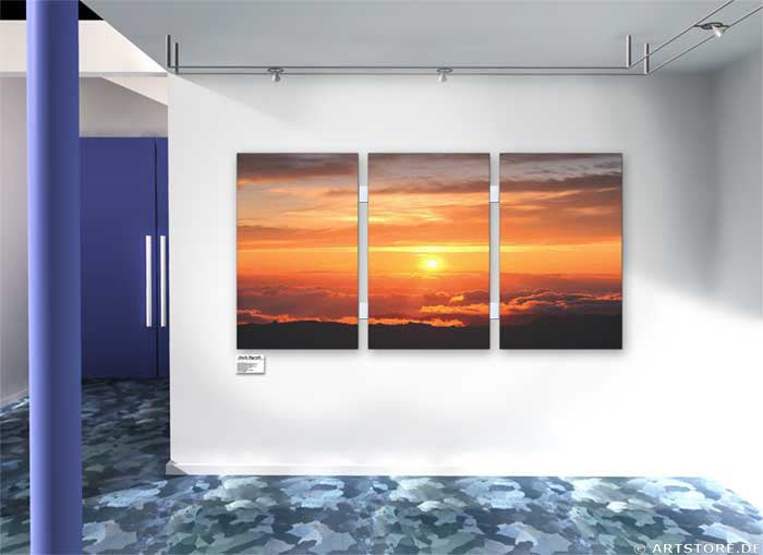 Wandbild Jack Dyrell MAGIC SUNSET Wohnbeispiel