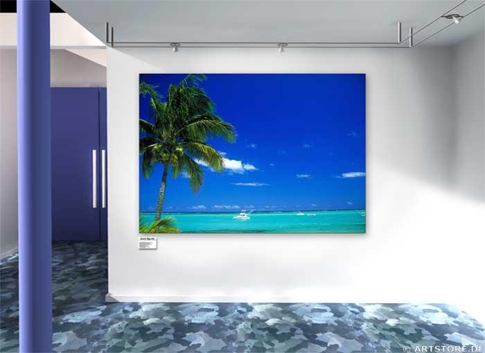 Wandbild Jack Dyrell BLUE LAGOON Wohnbeispiel