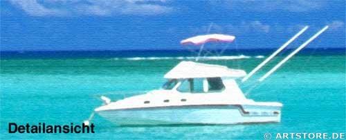 Wandbild Jack Dyrell BLUE LAGOON Detailausschnitt