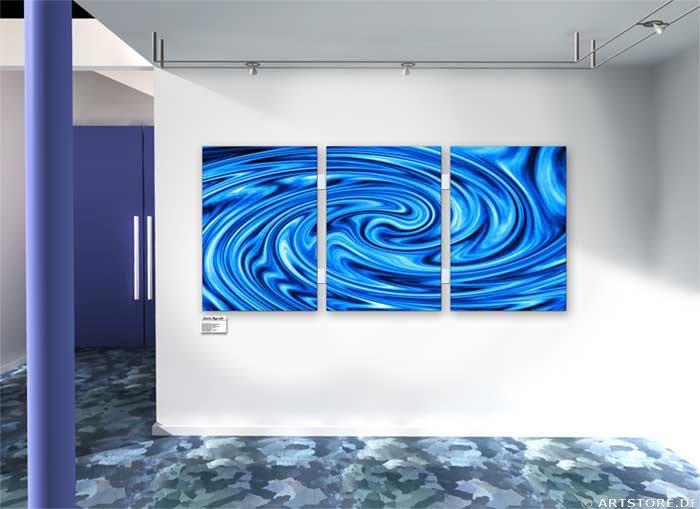 Wandbild Jack Dyrell BLUE STREAMS Wohnbeispiel