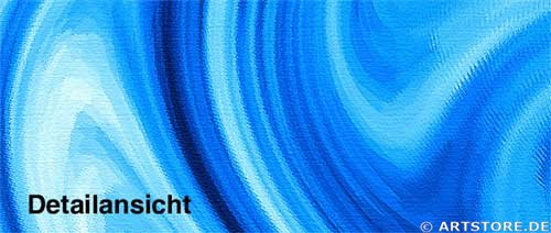 Wandbild Jack Dyrell BLUE STREAMS Detailausschnitt