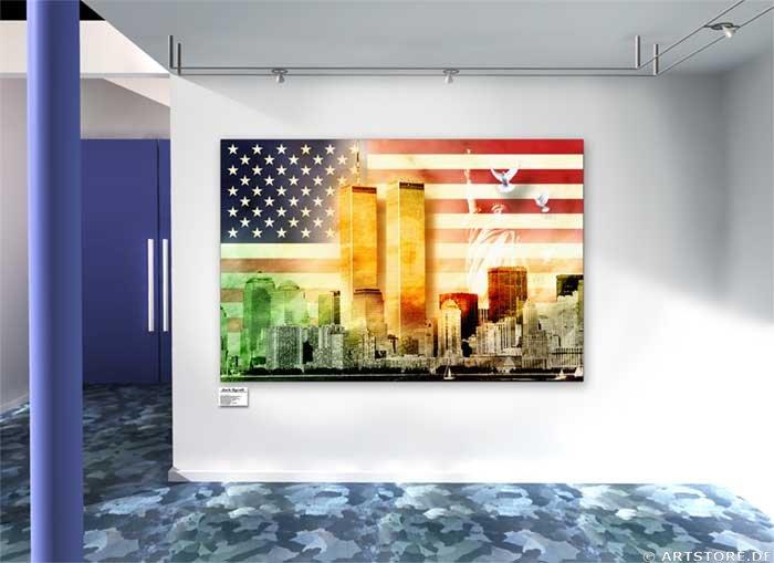 Wandbild Jack Dyrell NEW YORK LIBERTY Wohnbeispiel