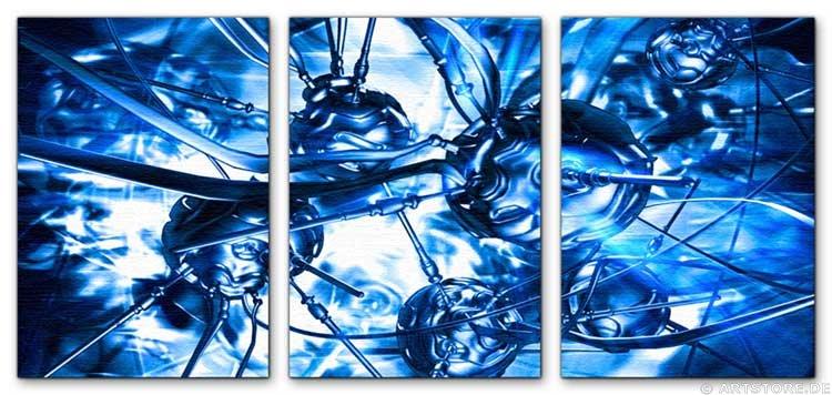Wandbild Jack Dyrell PSION BLUE