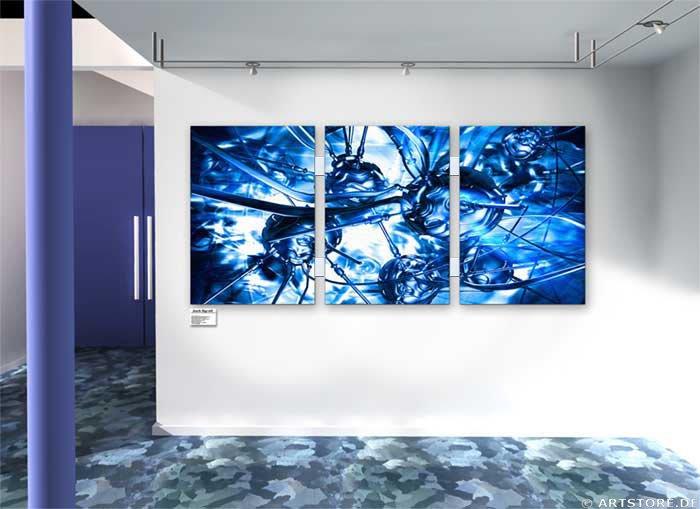 Wandbild Jack Dyrell PSION BLUE Wohnbeispiel