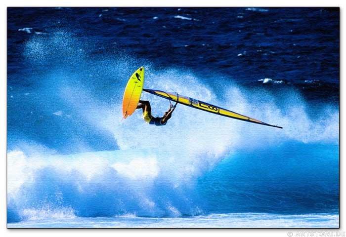 Wandbild Jack Dyrell WINDSURFING JUMP