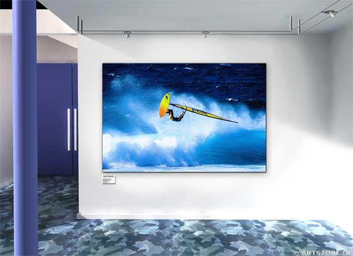 Wandbild Jack Dyrell WINDSURFING JUMP Wohnbeispiel