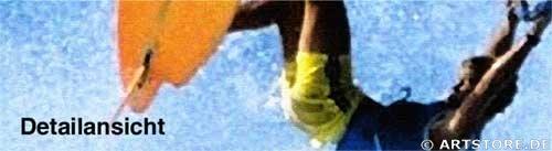 Wandbild Jack Dyrell WINDSURFING JUMP Detailausschnitt