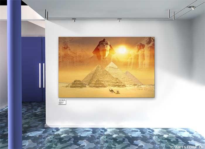 Wandbild Jack Dyrell MYTHOS ÄGYPTEN Wohnbeispiel
