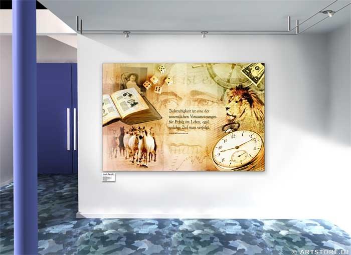 Wandbild Jack Dyrell ROCKEFELLER STORY Wohnbeispiel