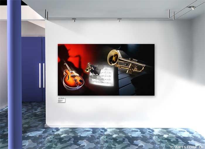 Wandbild Jack Dyrell JAZZ FEELINGS Wohnbeispiel