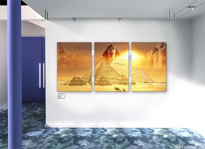 Wandbild Jack Dyrell MYTHOS ÄGYPTEN EDITION Wohnbeispiel