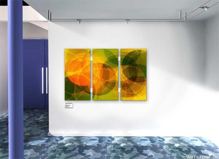 Wandbild Jack Dyrell MODERN FLOWERS Wohnbeispiel