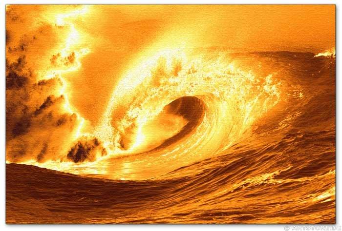 Wandbild Jack Dyrell BIG GOLDEN WAVE
