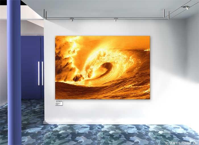 Wandbild Jack Dyrell BIG GOLDEN WAVE Wohnbeispiel
