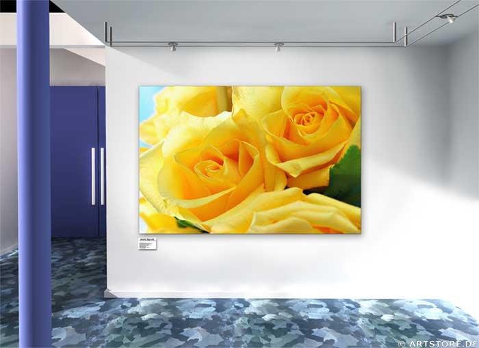 Wandbild Jack Dyrell LOVELY ROSES Wohnbeispiel