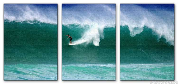 Wandbild Jack Dyrell ACTION SURFING - WAVE
